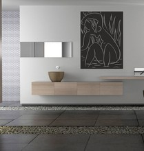 handmade oil painting inspired by Henri Matisse The Afternoon vinyl wall decal for your livingroom and bedroom decor Mural