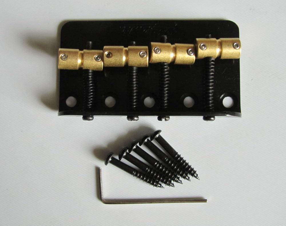 Quality Wilkinson Bass Bridge w/ Brass Saddles fits P Precision Bass JB Black quality wilkinson bass bridge w brass saddles fits p precision bass jb black