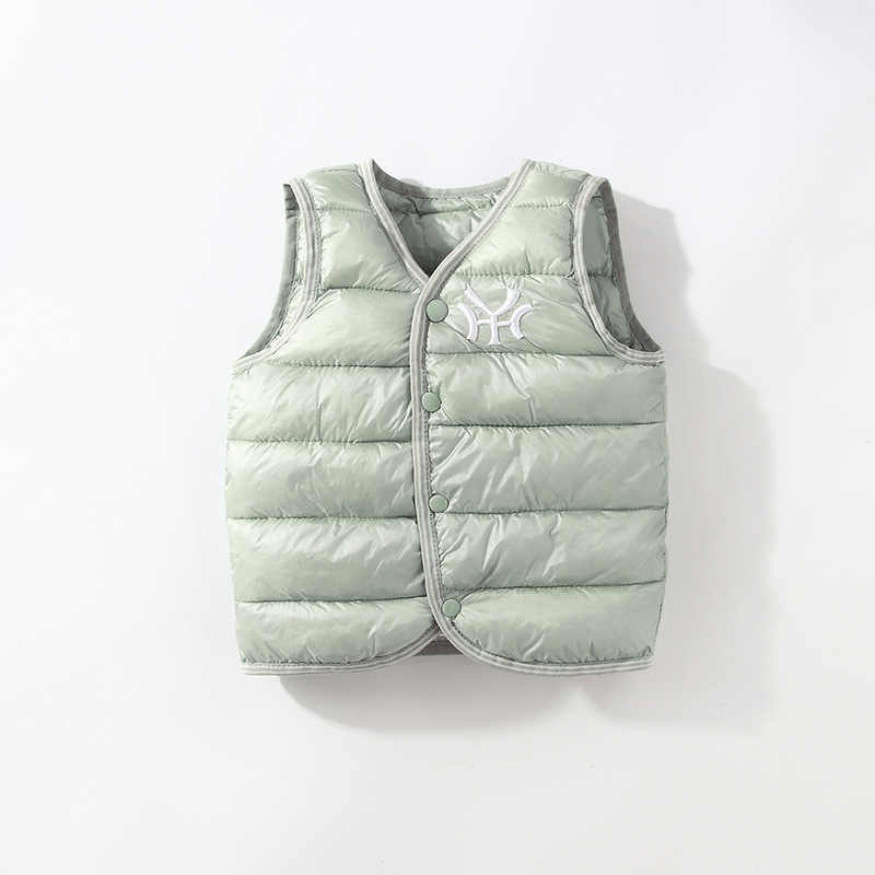 Autumn Winter vest for girl Boys Jacket light Cotton down vest Kid Waistcoat baby Vest Solid Single Breasted Outerwear Coats