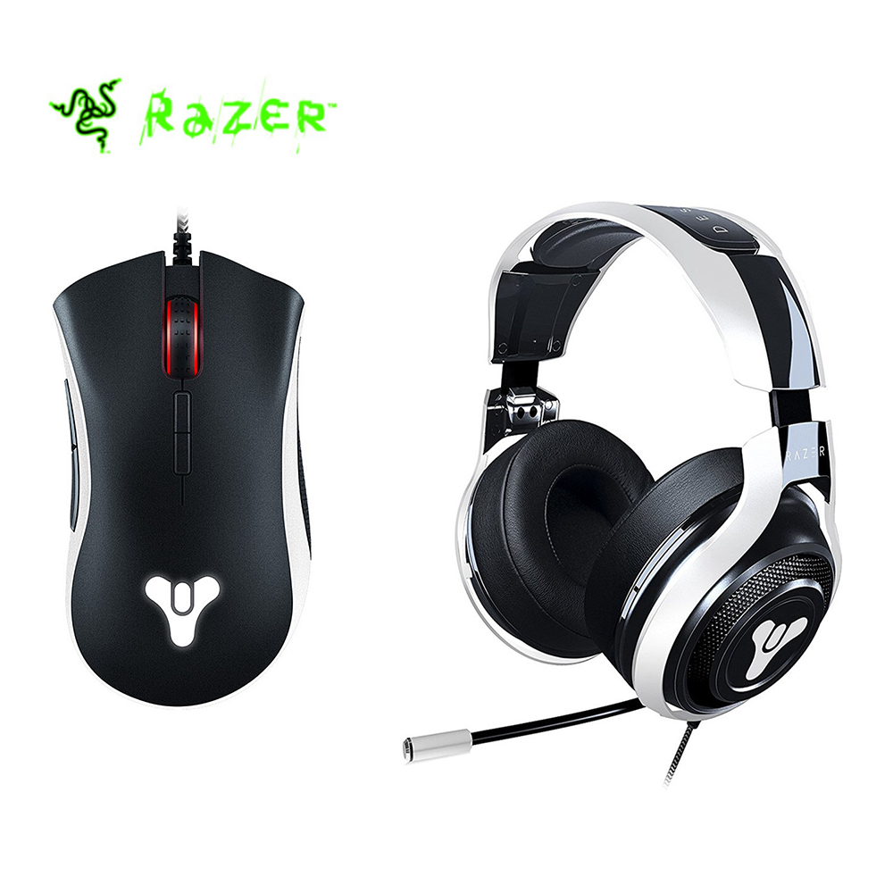 лучшая цена Razer DeathAdder Elite Destiny 2 Edition Gaming Mouse + Razer Man O'War Tournament Destiny 2 Edition Headphone Gaming Set