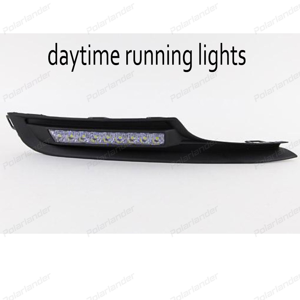 2017 new arrival 1 pair car styling auto accessory LED drl daytime running light for V/olkswagen G/olf 7 2014-2015
