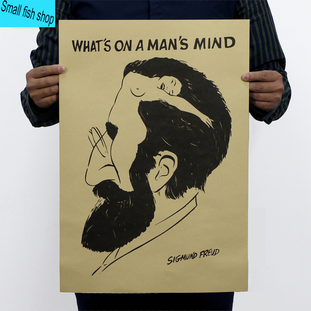 what is the man s mind sigmund freud psychology home furnishing decoration kraft personage poster drawing core