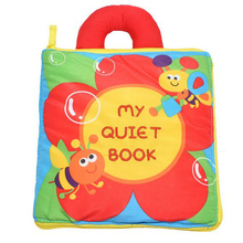 Cloth Books Infant Early Cognitive Development My Quiet Bookes Baby Goodnight Educational Washable Cloth Book Activity Book my baby animals sticker activity book