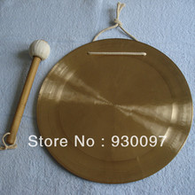 "high quality brass gong !100% handmade bronze gong,10""chinese traditional Wind  GONG"