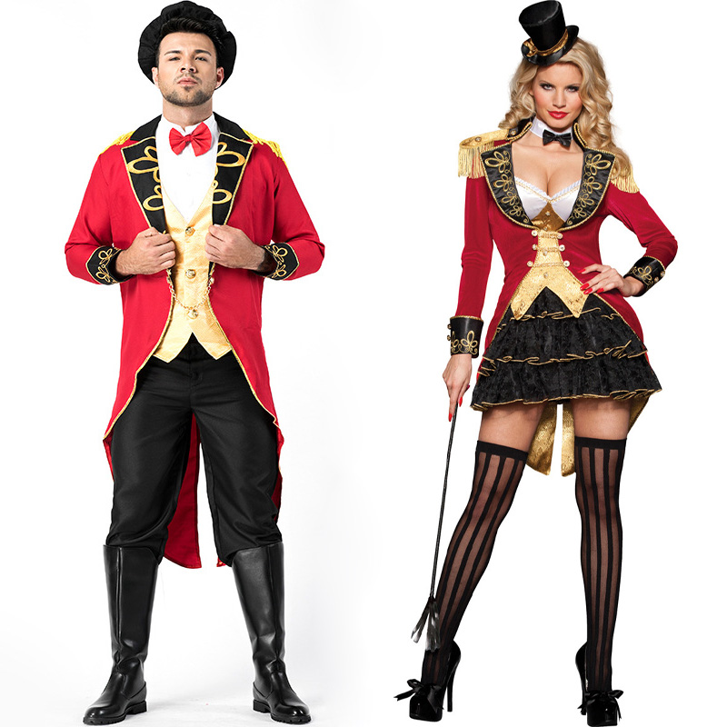Deluxe Mens Womens Ringmaster Costume Circus Lion Tamer Glamorous Ringleader Halloween Fancy Dress