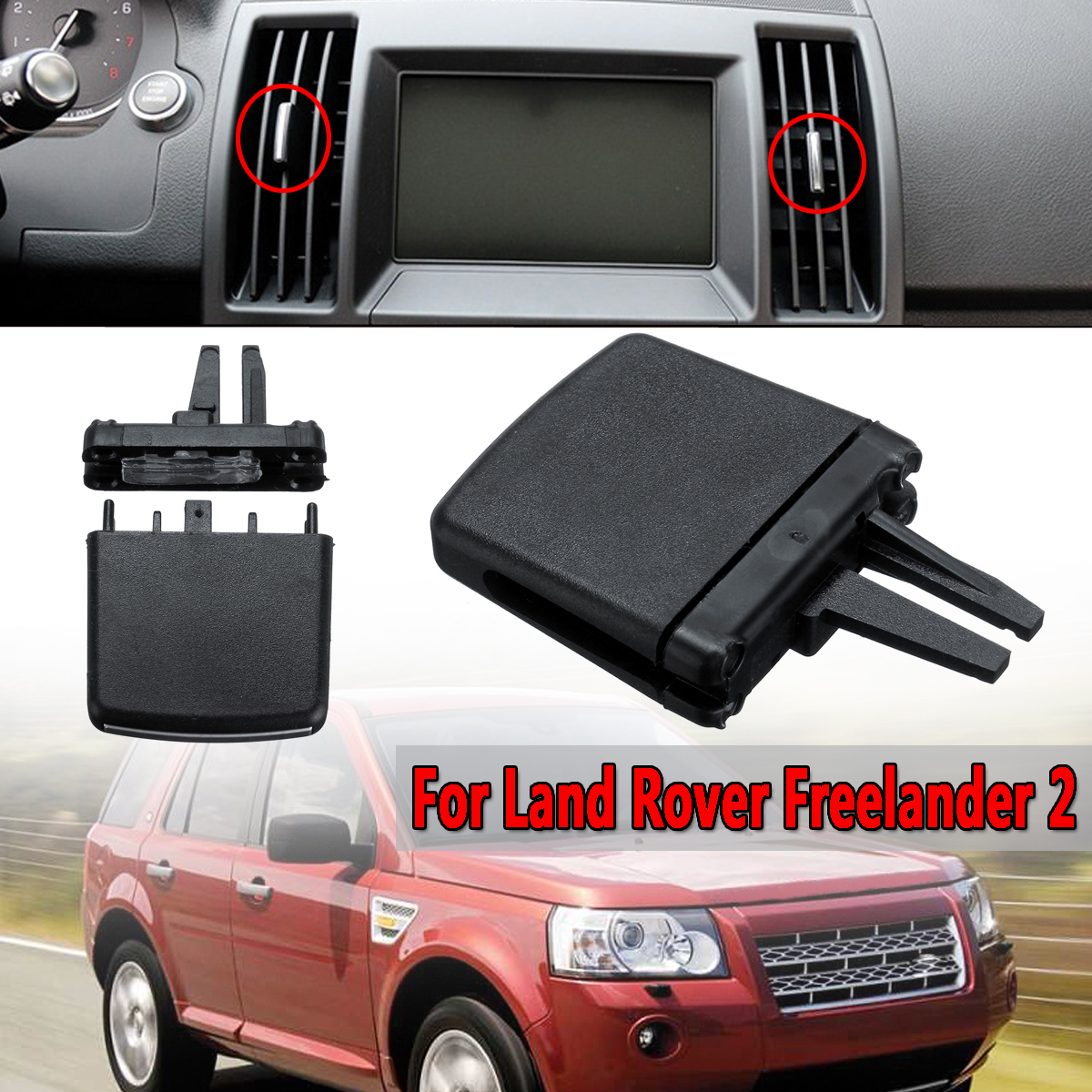 For Land Rover Freelander 2 A//C Front Air Vent Outlet Tab Clip Repair Set Black