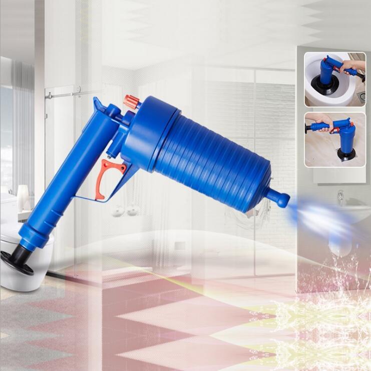 Air Power Blaster do odpływu pistolet wysokociśnieniowy potężny ręczny zlew tłok Opener cleaner pompa do kąpieli toalety łazienka pokaż