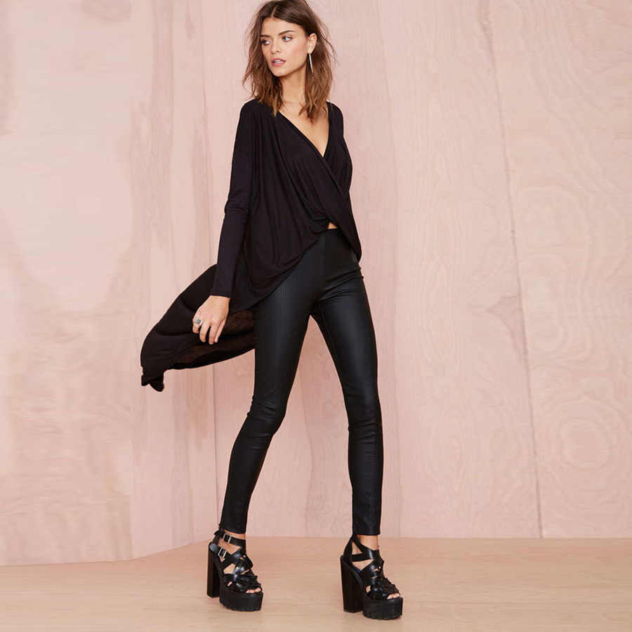 2019 Women Blouse Shirt Sexy V Neck Cross Fold Dovetail Blusas Feminina Casual Tops Asymmetrical Blouses Long Kimonos AFF407