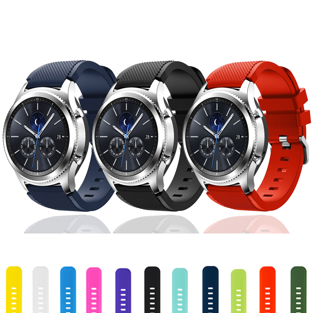 Gear S3 For Samsung  Galaxy Watch 46mm 42mm S3 Frontier Amazfit Bip Huawei Watch Gt Strap 22mm Watch Band Silicone Bracelet