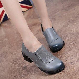 Image 3 - GKTINOO אביב סתיו אופנה מוקסינים 100% עור אמיתי יחיד נעלי רך מזדמן שטוח נעלי נשים דירות אמא נעלי 35  40