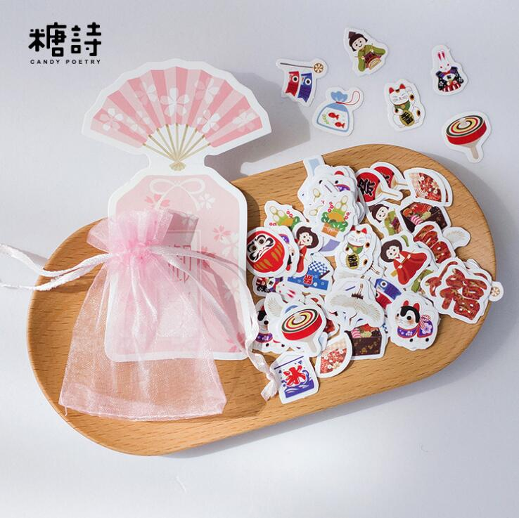 100 pcs/pack The Japanese Style Kimon Decorative Stickers Adhesive Stickers DIY Decoration Craft Scrapbooking Stickers alive for all the things are nice stickers adhesive stickers diy decoration stickers