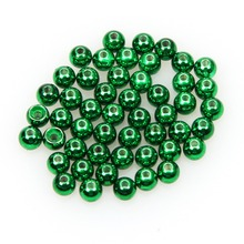 50pcs/lot Tungsten Fly Tying Beads Fly Fishing Nymph Head Ball Beads Red Green Rainbow