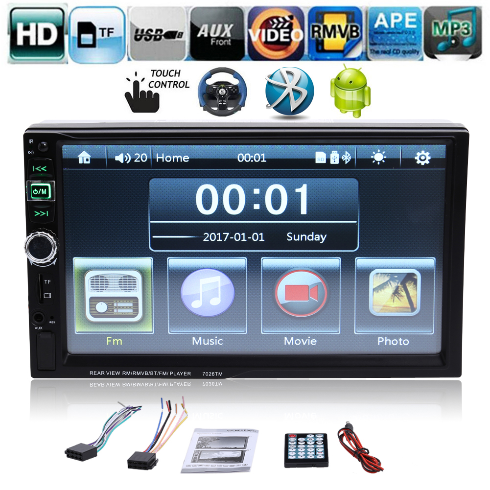 7 inch 2 Din Car MP5 Player Car Video Player Touch Screen Auto Audio Stereo Multimedia FM/MP5/USB/AUX/Bluetooth MP5 Player New 7 inch hd touch screen 2 din bluetooth auto car audio stereo fm mp5 player support aux usb tf phone reverse rearview camera