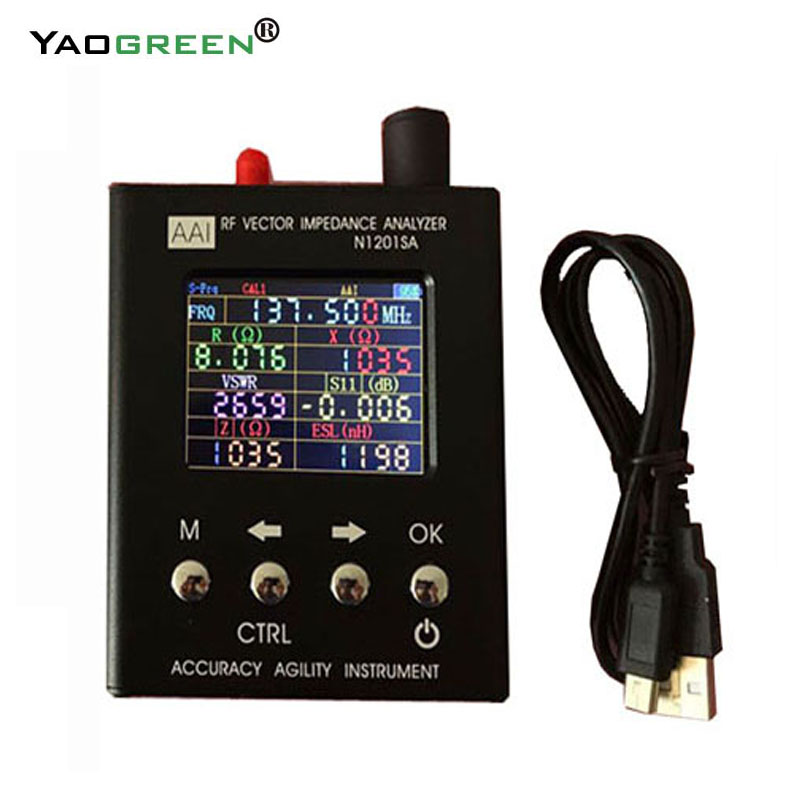 2.4TFT trdp Inglese verison N1201SA 140 mhz-2.7 ghz UV RF Vector Impedenza ANT SWR Antenna Analyzer Tester 140 mhz-2.7 ghz D1-005
