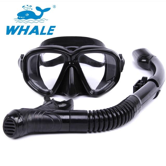 080cd7ece Nova 5 Cores Mergulho Mergulho Scuba Natação Tubo de Respiração Seca  Completa Snorkel com Válvula de