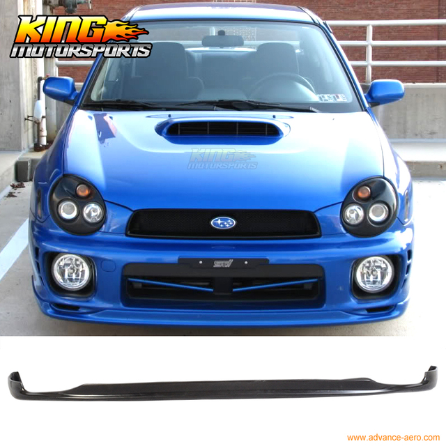 FIT 02 03 SUBARU IMPREZA WRX STI PD FRONT BUMPER LIP PU-in Bumpers