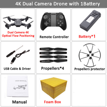 Visuo XS816 RC Drone with 50 Times Zoom WiFi FPV 4K Dual Camera Optical Flow Quadcopter Foldable Selfie Dron VS SG106 M70 16