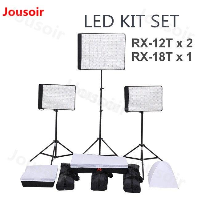 FalconEyes 34 W/62 W 5600K Dimmable Flexible Portable continu LED Film vidéo lumière photographique RX-12T/kit de RX-18T CD50T06Y