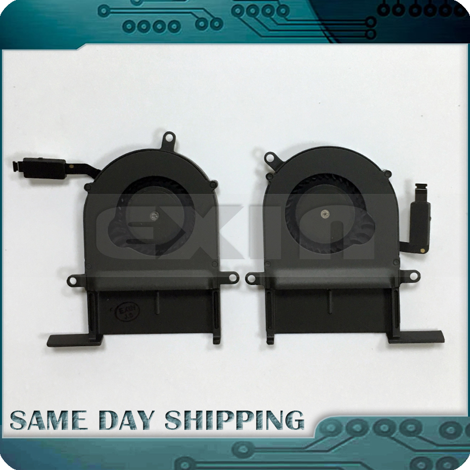 10Sets/lot Laptop Fan for MacBook Pro 13 Retina A1425 Left Right Side CPU Cooling Cooler Fan Set Pair Late 2012 Early 2013 Year 10pcs lot brand new lcd screen rubber frame ring for macbook pro 13 retina a1502 a1425 2012 2013 2014 2015 year
