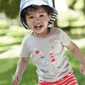 Atacado little maven 6 pcs menino camiseta 100% algodão de verão t-shirt das crianças t-shirts cinza moda roupa dos miúdos