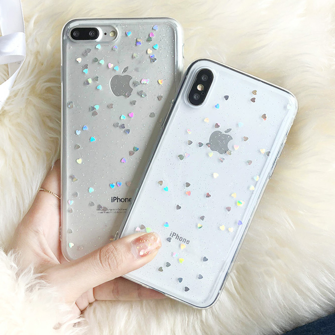 Silicone Case for <font><b>Samsung</b></font> Galaxy A10 A20 A30 A40 A50 A60 A70 M10 M20 M30 A6 A8 <font><b>A7</b></font> J4 J6 Plus <font><b>2018</b></font> Phone Cases Love Heart Star image