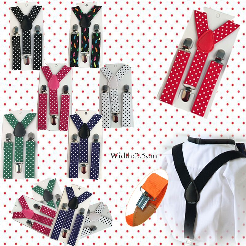 Men's Suspenders Fashion Boys Girls Children Toddlers Kid Suspender Y-back Solid Polka Dot Clip-on Adjustable Elastic Braces Suspenders Yhh0011 Promoting Health And Curing Diseases