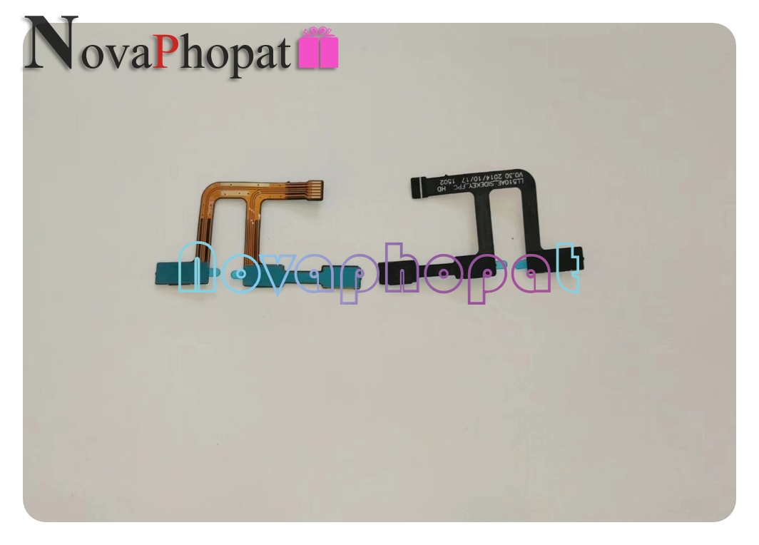 Novaphopat interrupteur de Volume marche/arrêt pour Wiko Ridge 4G bouton latéral touche de Volume carte de câble flexible + suivi