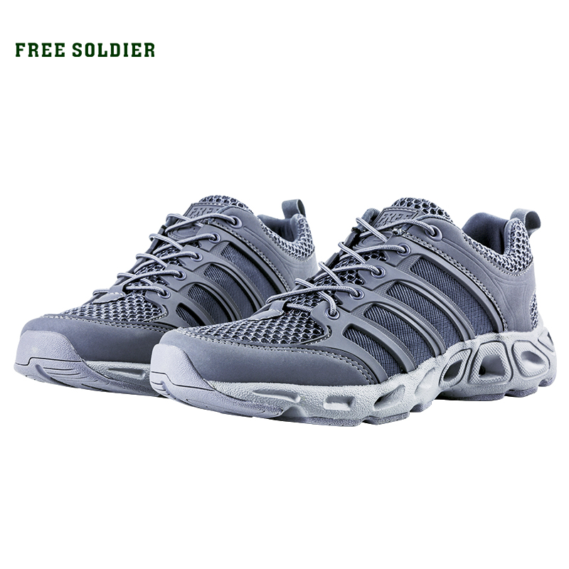 FREE SOLDIER Outdoor Sport Hiking Shoes Tactical Shoes For Men Lightweight Walking Boots Upstream Shoes For