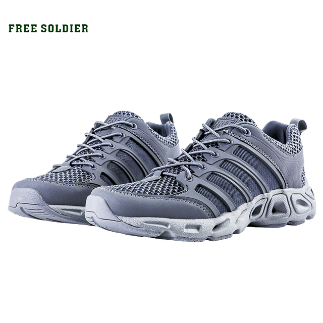 FREE SOLDIER Outdoor Sports Camping Shoes For Male Tactical Hiking Upstream Shoes For Summer Breathable Waterproof Coating