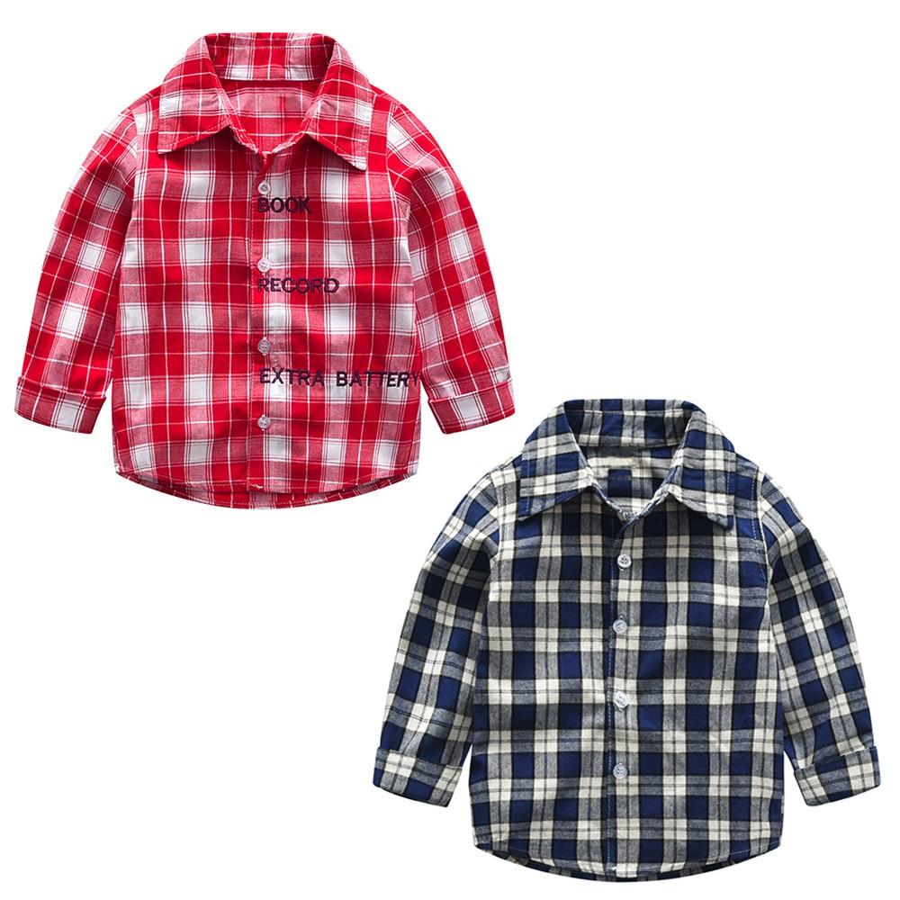 Baby Junge Bogen Kleidung Kleinkind Mädchen Kinder Red Plaid Shirts Langarm Gentleman Tops Fliege Anzug Bluse Hemd Camisas Costum