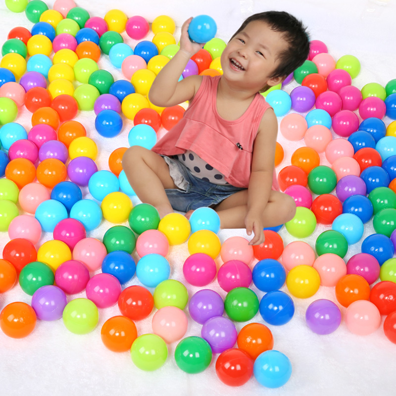 100pcs lot 7cm Eco Friendly Colorful Soft Plastic Water Pool Ocean Wave Ball Baby Stress Air