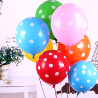 100 Unidades/pacote Capina Airballoon Balão De Látex Rodada Dots Doce Cor Transparente