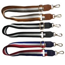 125cm Handbags Strap Nylon Striped Woven for Women Crossbody Shoulder Bag Belts Handbag Adjustable Accessories