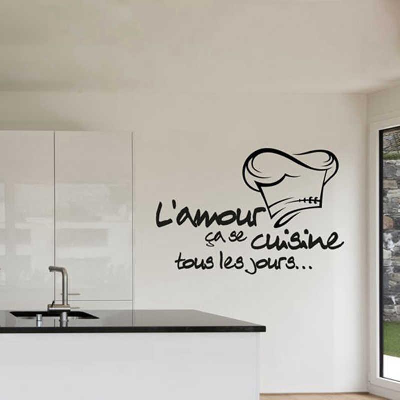 French Quotes Pvc Sticker Cuisine Tour Les Jours Stickers Cuisine