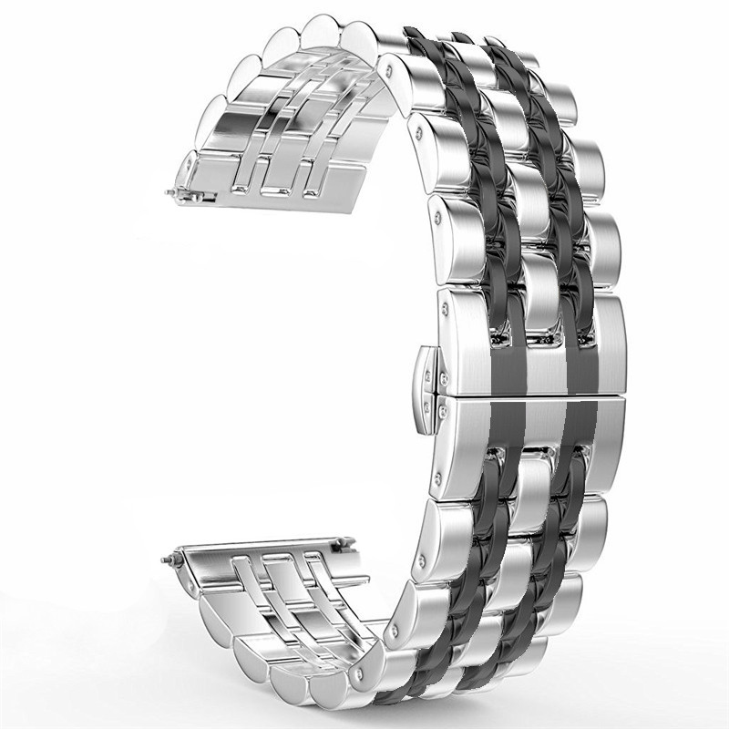 Stainless Steel Bracelet 20mm 22mm Band for Samsung gearS3/S2 Classic Forntier Galaxy Watch 46mm 42mm bands/Active 40mm StrapStainless Steel Bracelet 20mm 22mm Band for Samsung gearS3/S2 Classic Forntier Galaxy Watch 46mm 42mm bands/Active 40mm Strap