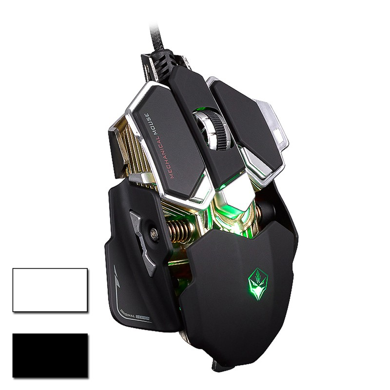 G10 DPI 4000 Professional 10 Buttons Optical Mechanical Wired Gaming Mouse New