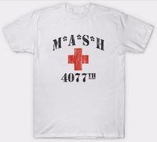 Bulk T Shirts  Crew Neck Mash 4077Th Top 1970S Tv Series Show American Usa Short Printing Machine For Men