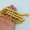 Longitud 53 CM/83 CM Ancho de 9 MM/6 MM, etíope Collares Gruesos de Oro Africano Plateado Collar Fornido de Cadena de Eritrea/Dubai/Árabe #046506