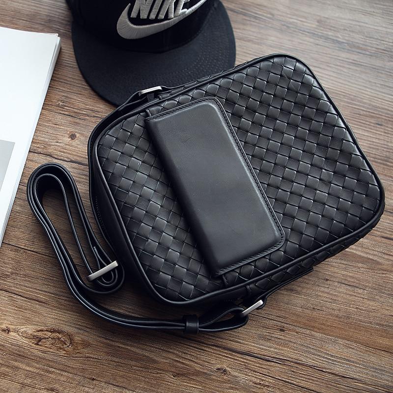 Black Bags Leder Lässig Handarbeit Männer Lanspace Mode Umhängetasche Messenger 618qWwS
