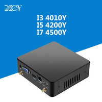 Intel Core Mini PC i3 4010Y i5 4200Y i7 4500Y Windows 10 DDR3 Оперативная память микро Wi Fi HDMI VGA USB3.0 вентилятор охладитель ТВ коробка NUC Настольный ПК
