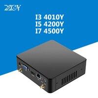 Intel Core Mini PC i3 4010Y i5 4200Y i7 4500Y Windows 10 DDR3 Оперативная память микро Wi Fi HDMI VGA USB3.0 Вентилятор Cooler ТВ коробка NUC Настольный ПК