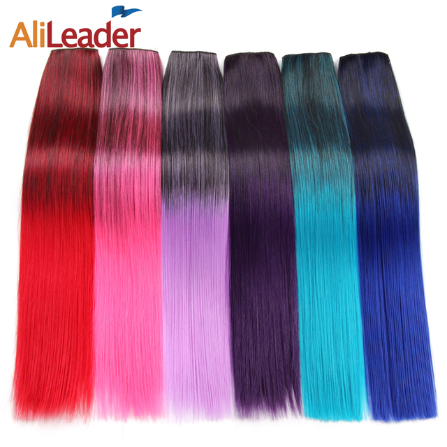 Alileader Straight Women Clip Hair Extensions Blonde Hair 22 Inch 26