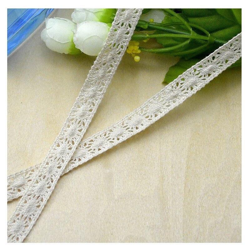 ᗑ50 meter alta calidad beige Encaje cinta Telas algodón Encaje ...