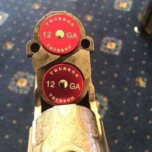 Image 5 - Tourbon Avcılık 12 Ölçer Shotgun Yapış Kapaklar Cephane Kabukları Alüminyum Taktik Eğitim Kullanımlık Geri Dönüşümlü 2 adet Kuru Ateşleme