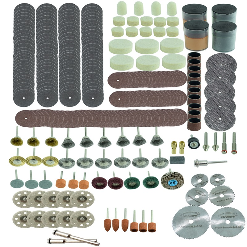 Dremel Rotary Tool Accessory Set Fits for Dremel Drill Grinding Polishing Dremel Accessories mx demel high quality 17pcs 1 2 felt polishing wheels dremel accessories fits for dremel rotary tools dremel tools small