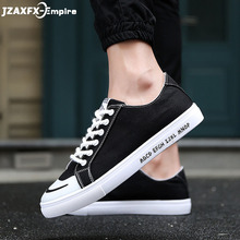 Summer New Mens Vulcanize Shoes Lace-up Breathable Canvas Footwear Black White Grey Flat