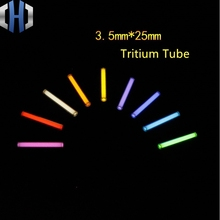 3.5*25mm New Size Automatic Light 210 Years Glowing Tritium Tube EDC DIY Outdoor Tools недорого