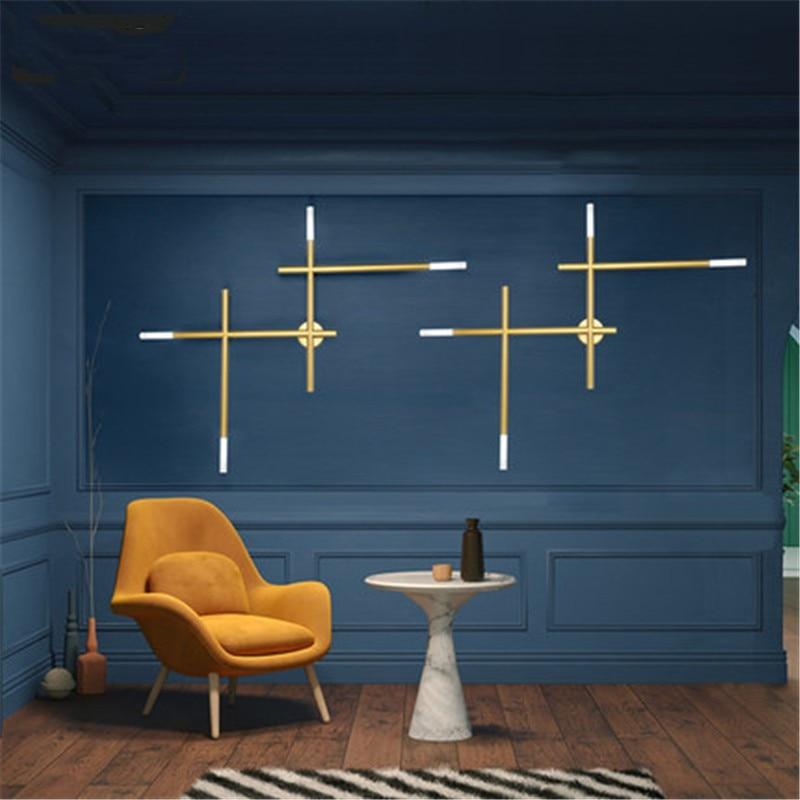 Northern Europe Creative Individuality Industrial Style cross Wall Lamp Bedroom Livingroom Study Decoration Lamp Free Shipping стоимость