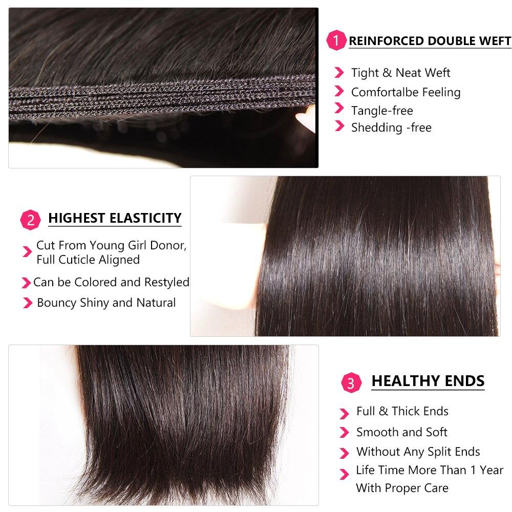 Nadula Hair 1 Bundle Indian Hair Straight  s 8-30inch  Hair s Natural Color   3