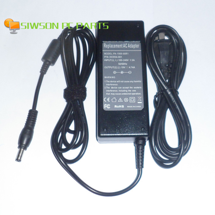 19โวลต์4.74aแล็ปท็อปac a dapterชาร์จไฟ+สายไฟสำหรับasus A7 A7C A7D A7F A7G A7J A7Jc A7M A7S A7Tc A7V A7Vc